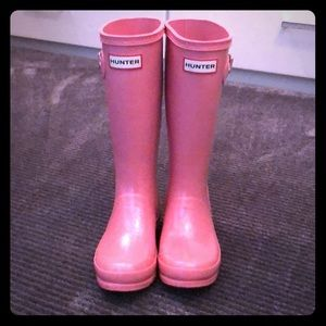 Hunter rain boots - pink size Y13